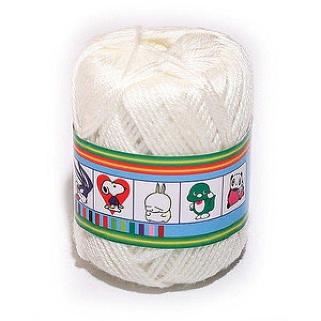 털실(미색-45g)공작 공예 미술준비물 학습용품