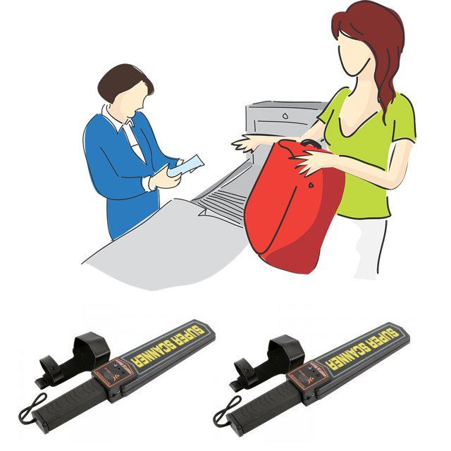 보안이 필요한 곳에서 사용하는 금속탐지기 X 2개입 공항 철도 항만보안 공구 철물