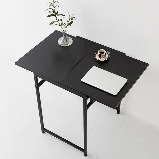 마켓비 OISA 확장형테이블 접이식식탁 2인용식탁 블랙