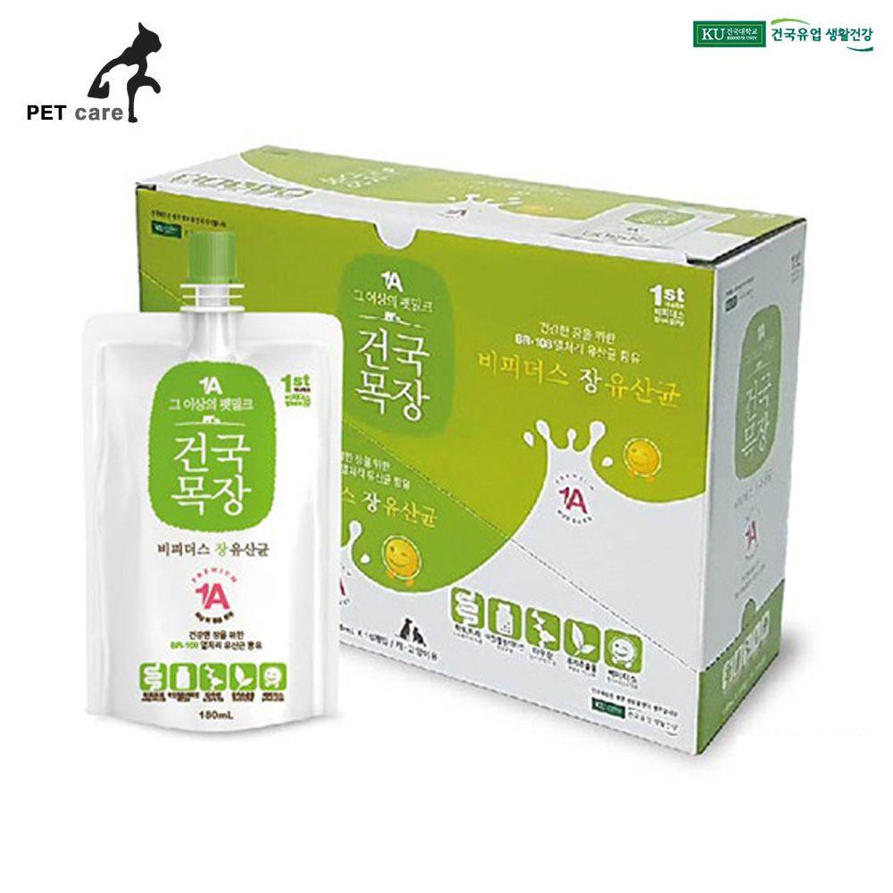 건국목장 펫밀크 장 유산균 180ml (10개입)