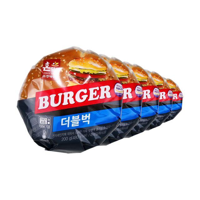 한맥 PC방 가성비짱 수제 더블벅 햄버거200gx5개