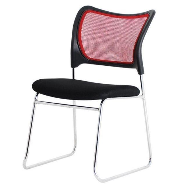 에어 메쉬 강당의자 보급형 체어 회의실 의자 레드