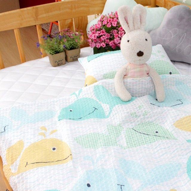 아기 유아 여름 낮잠 이블 리플 홑이불 베개세트 M