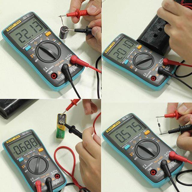 디지털 전기 전류 테스터기 휴대용 멀티 전압 측정기