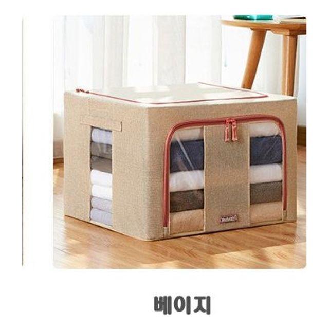 옷정리함 소품 린넨 공간박스 수납 22L 베이지