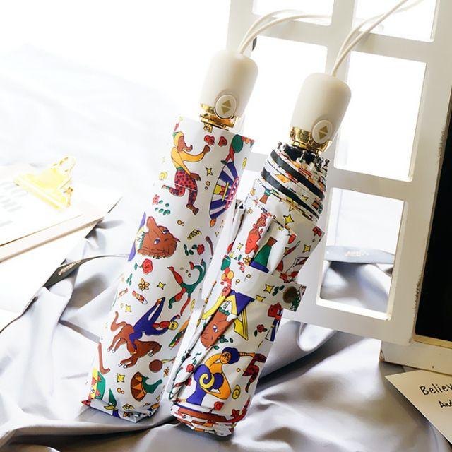 서커스 UV 자외선차단 3단 자동 양우산 우양산