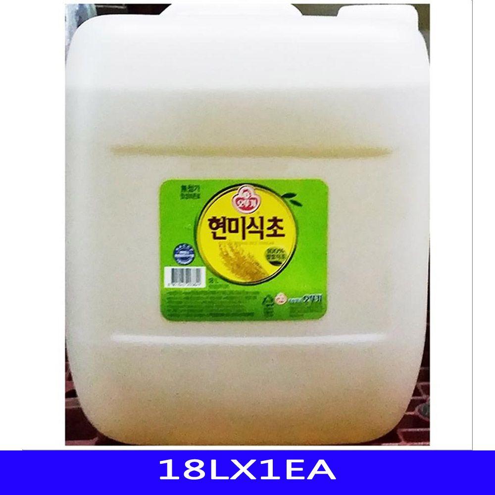 발효 대용량 현미 식초 업소용 식자재 오뚜기 18LX1EA