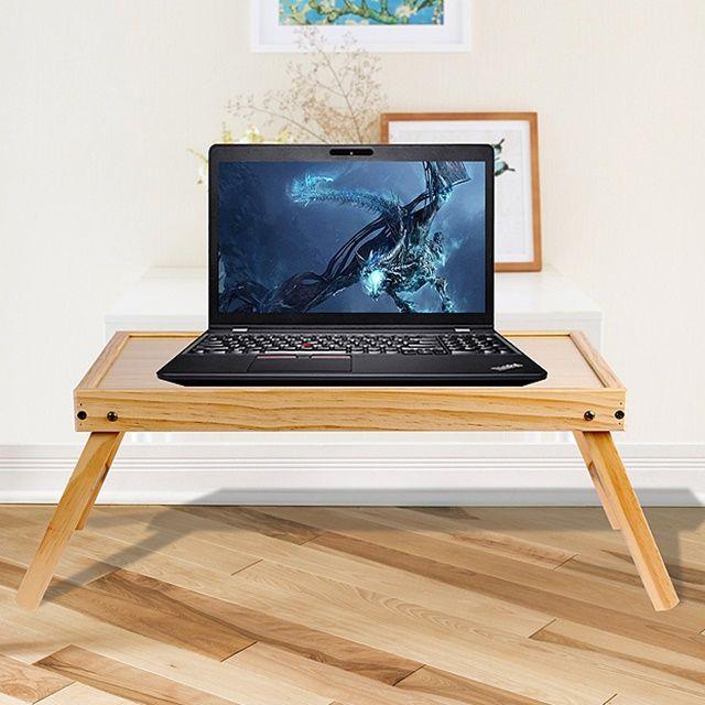 베드테이블 캠핑용 가정용 우든 접이식 노트북 책상