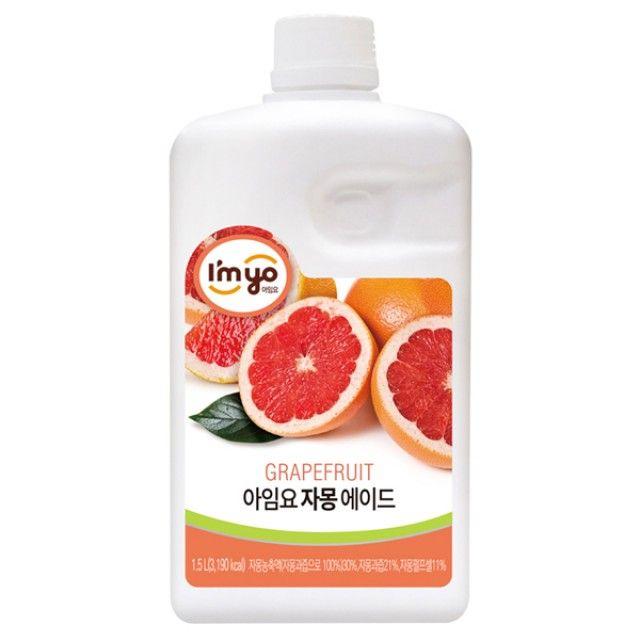아임요 자몽에이드 1.5L 에이드베이스 자몽음료 원액