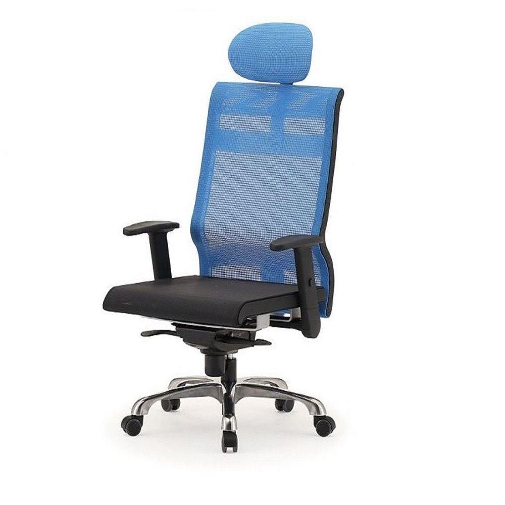 메쉬 회전 의자 DN-투톤-파랑 (대) 알루미늄발 학생