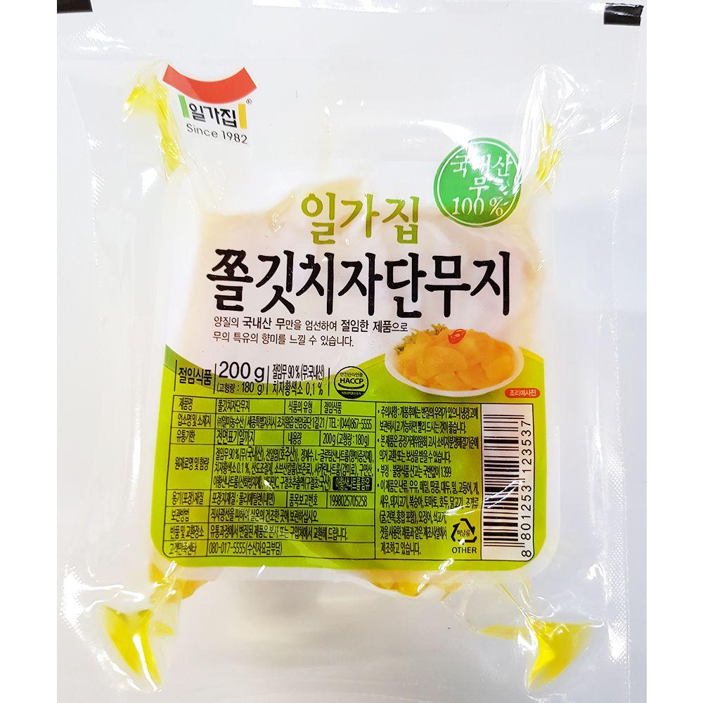 업소용 식당 식자재 반찬 재료 치자 단무지 200g X18