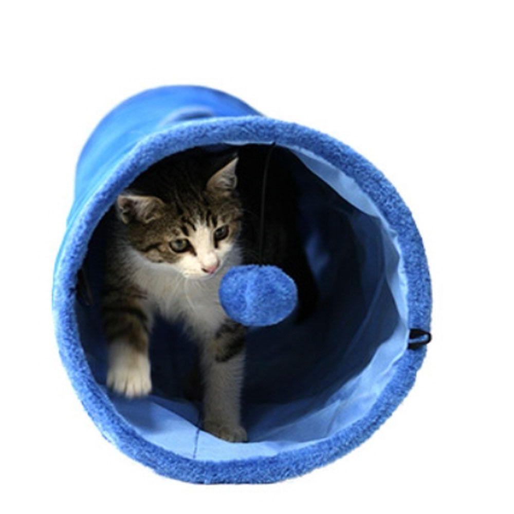 캣 터널 블루 고양이 놀이터 쉼터 놀이