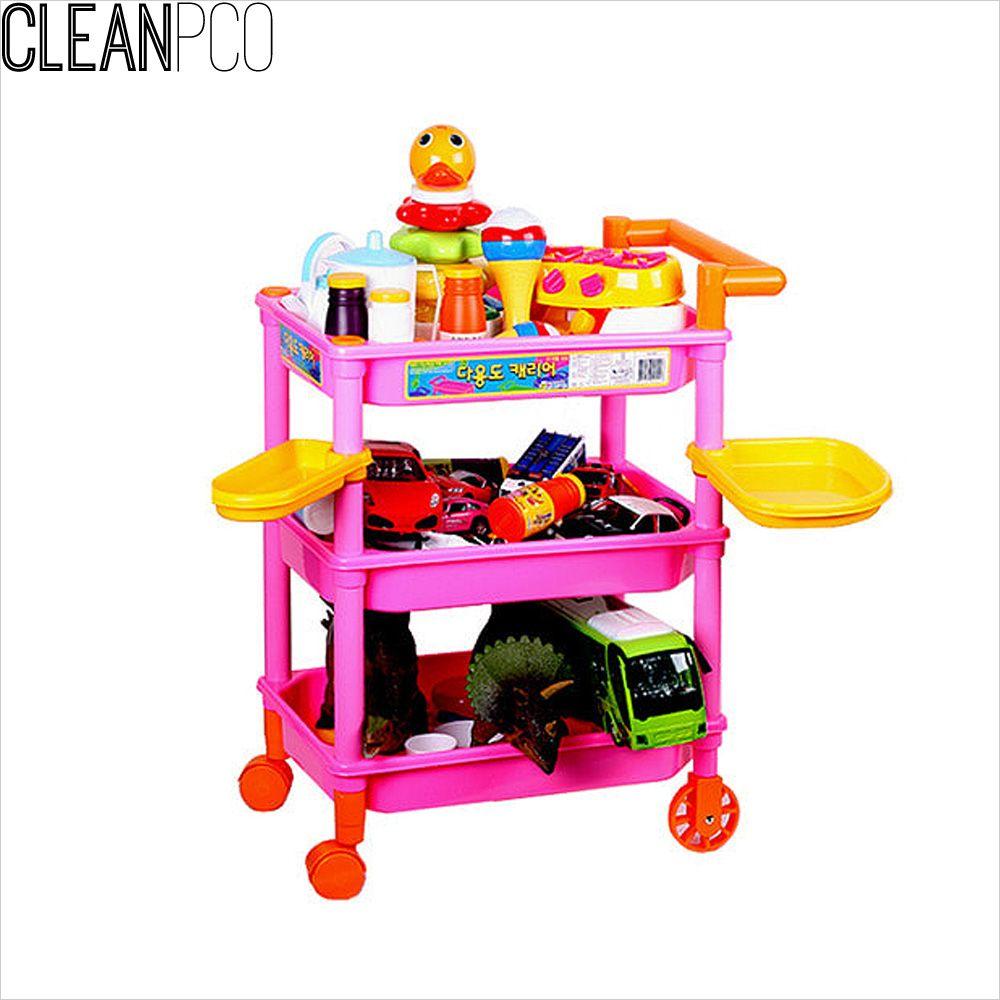3단 다용도 캐리어 핑크 장난감캐리어 놀이 교
