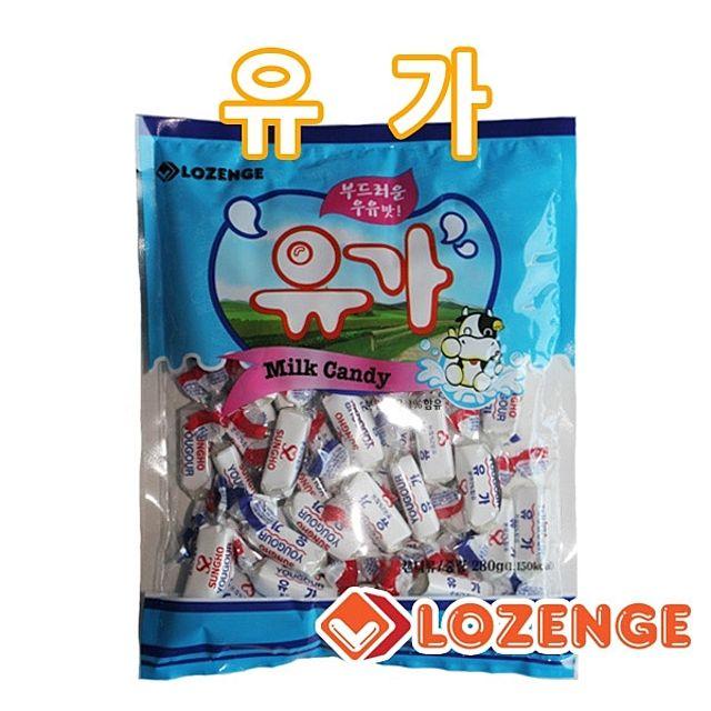 유가 280g 우유맛사탕 캬라멜 캔디 카라멜