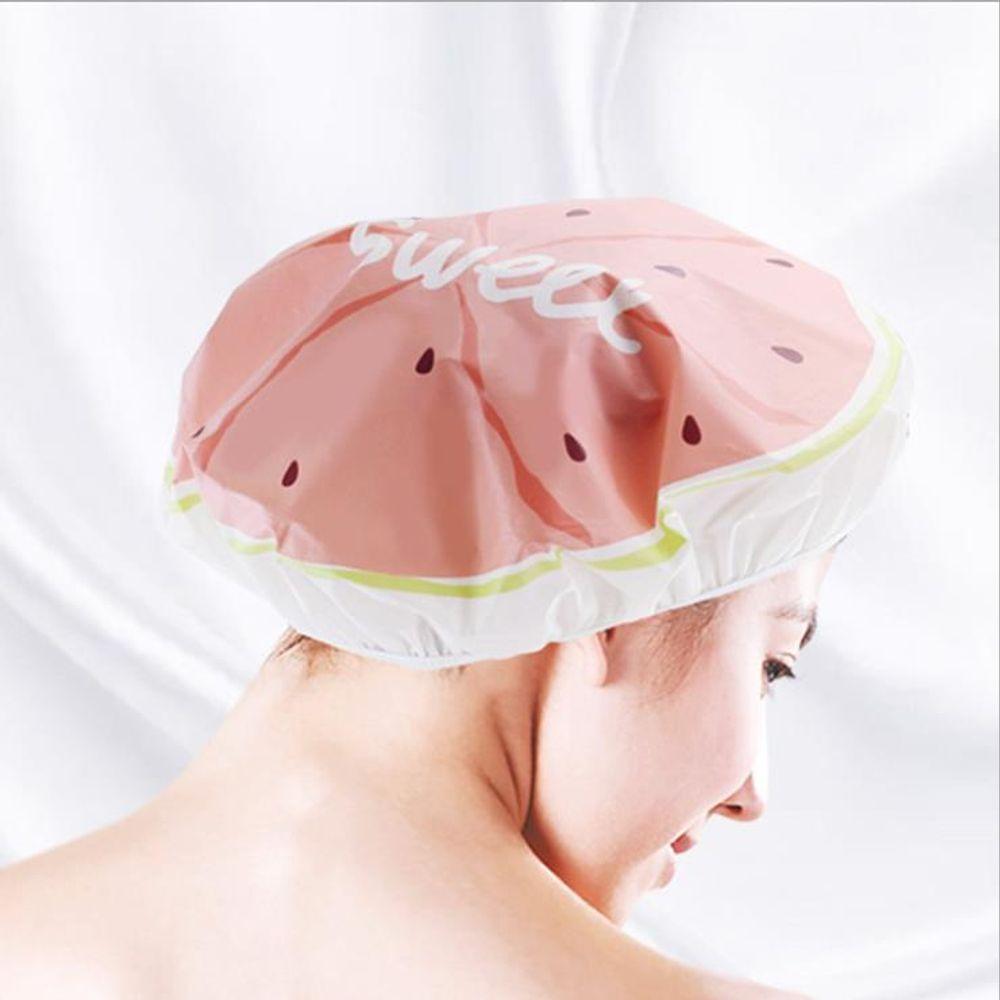 과일 샤워캡 헤어캡 세안 밴드 방수 머리 목욕