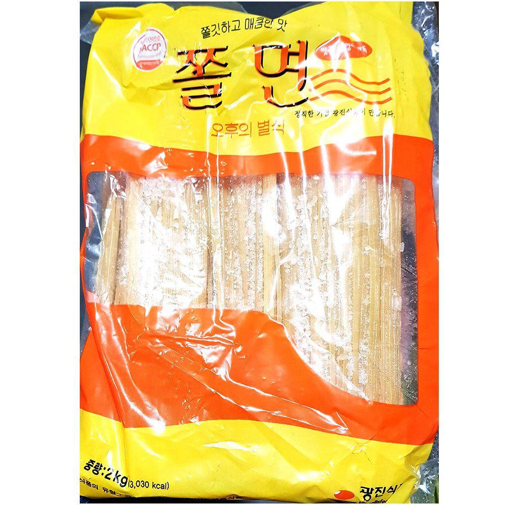 광진 쫄면 사리 2kg X6개 분식 재료 간식 식당 업소용