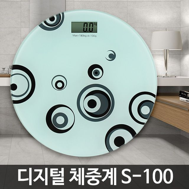 S-100 전자 체중계 정확한 몸무게측정기 저울 가정용