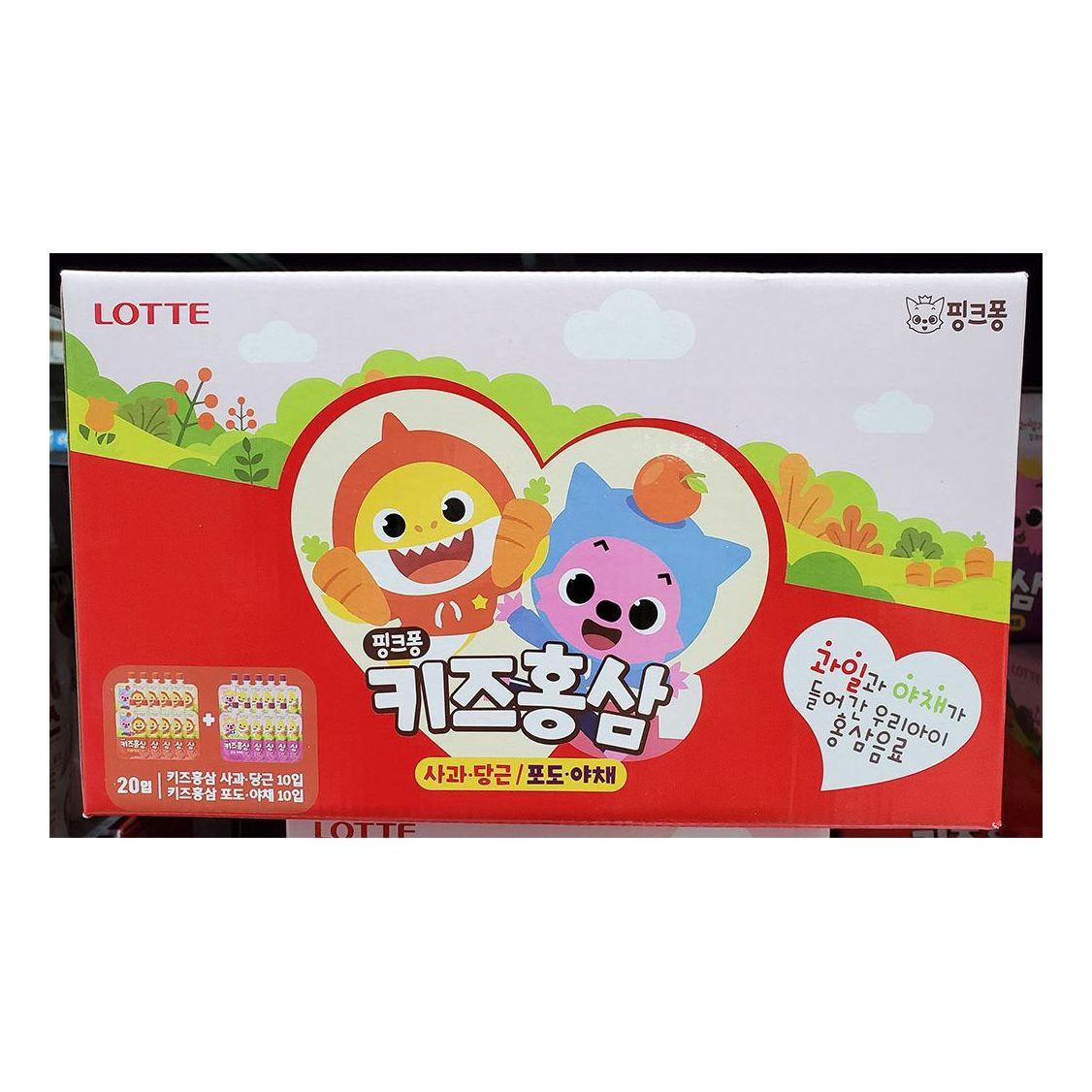 핑크퐁 과일 야채 키즈 어린이 파우치 홍삼음료 20개