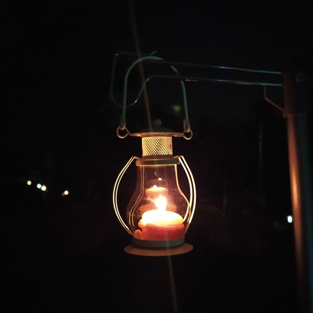 감성캠핑 티라이트 램프(블랙)
