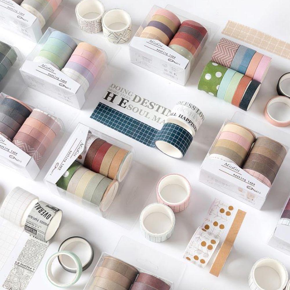 키밍 컬러 마스킹 테이프 10P 종이 디자인 DIY