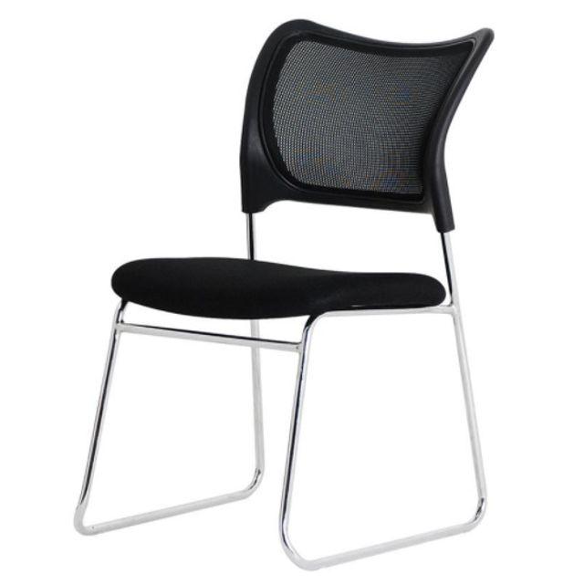 에어 메쉬 강당의자 보급형 체어 회의실 의자 블랙
