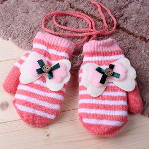 따뜻한  큐트 리본 벙어리 장갑(아동)