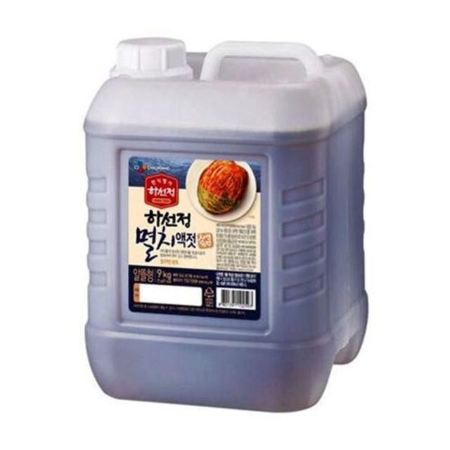 제일제당 하선정 자연숙성 멸치액젓 9kg 젓갈