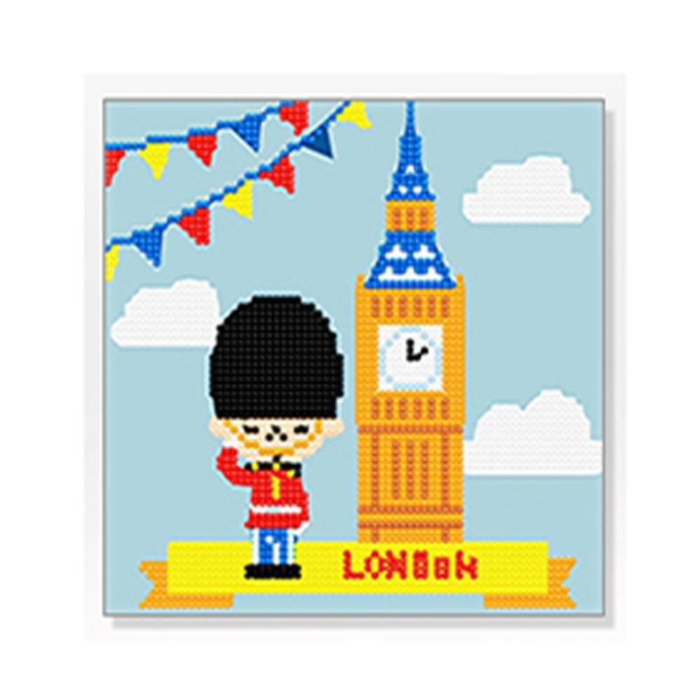 DIY 보석십자수 런던 20x20