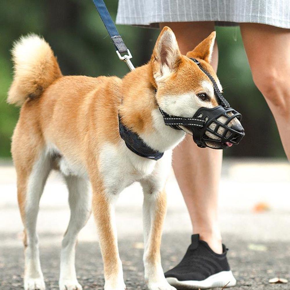 조절 가능 입마개 마스크 애견용품 강아지 산책용품