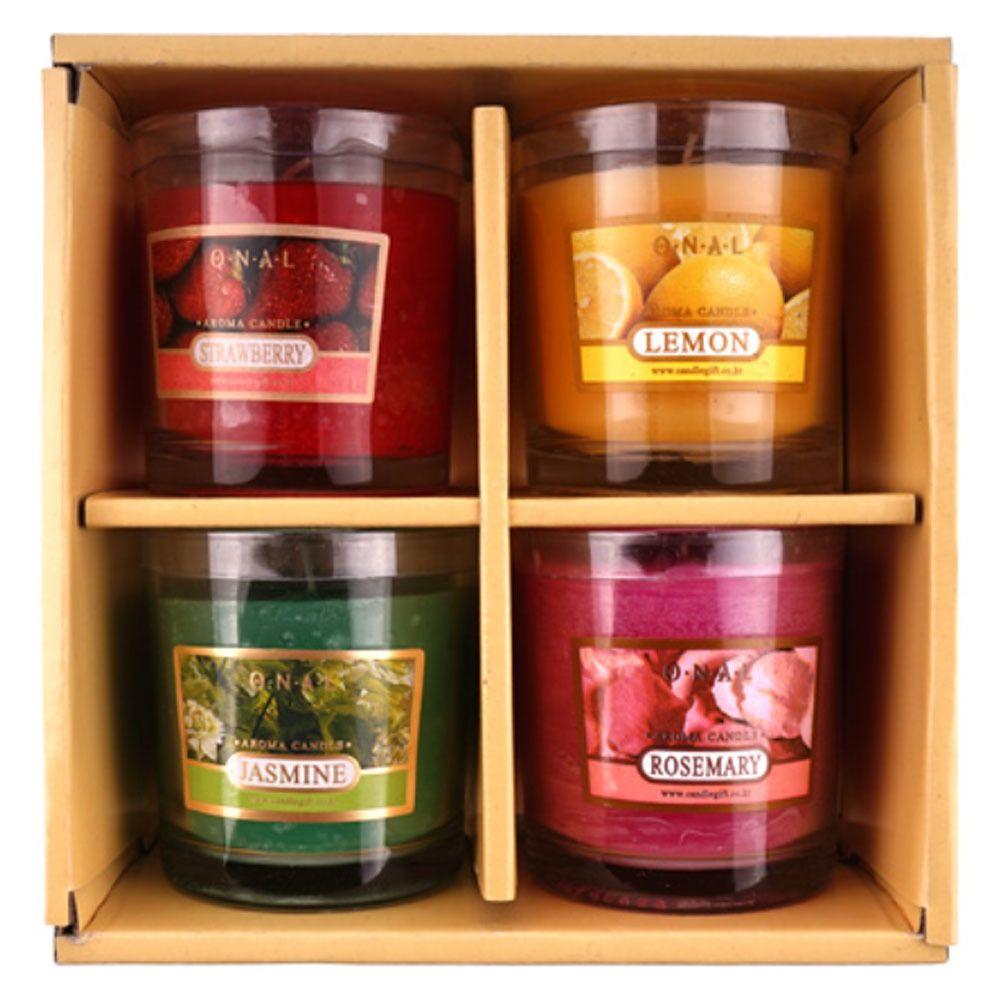 집들이 선물 향초 캔들 4세트 좋은 향기 실내 방향제