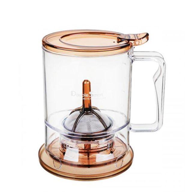 대용량여과기 스마트 더블여과기 브라운 원두용필터 커피추출기 커피드리퍼
