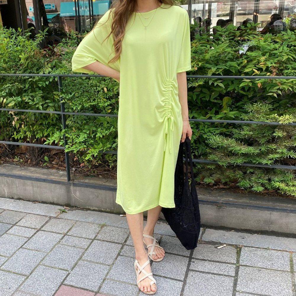 망고 셔링 롱 원피스 z777EP006 여성 의류 옷