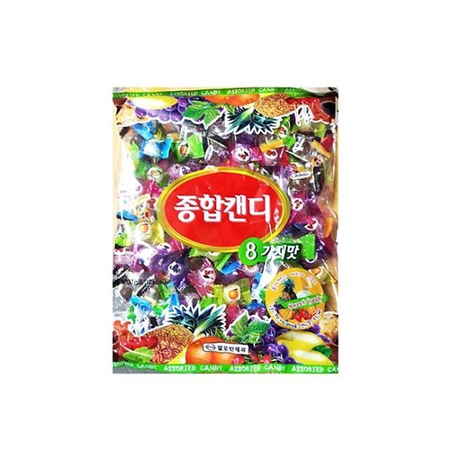 간식류 사탕 종합캔디사탕 8가지맛 봉지 700g 8ea 양구
