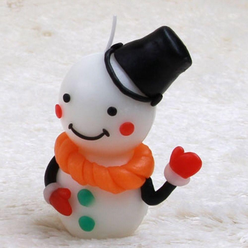 아동 크리스마스 눈사람 2개 양초 선물 만들기 세트