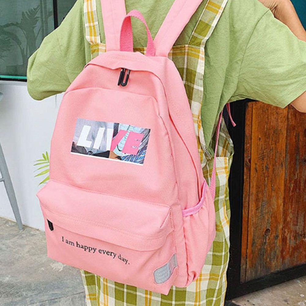 여성 학생 신상 백팩 캬주얼 트렌드 가방 핑크 책가방