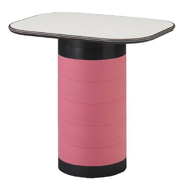 스탠딩 수납 테이블 핑크 탁자 다용도 입식 작업 책상