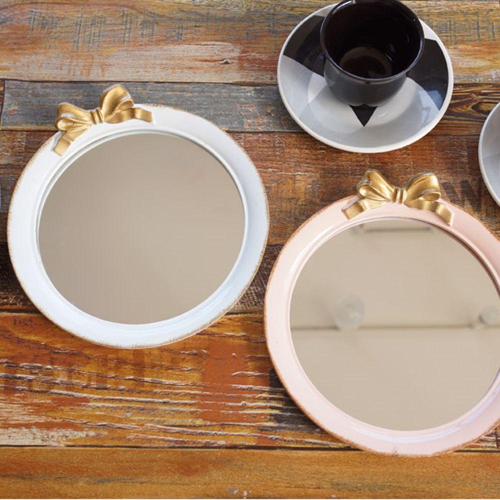 인테리어 장식 러블리 원형 거울 2color