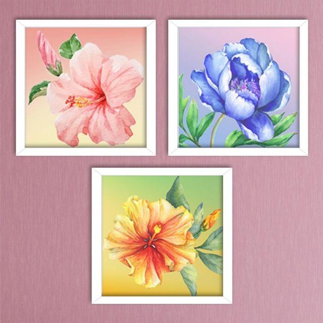 보석십자수5D 향기로운 꽃 시리즈 3종 인테리어소품