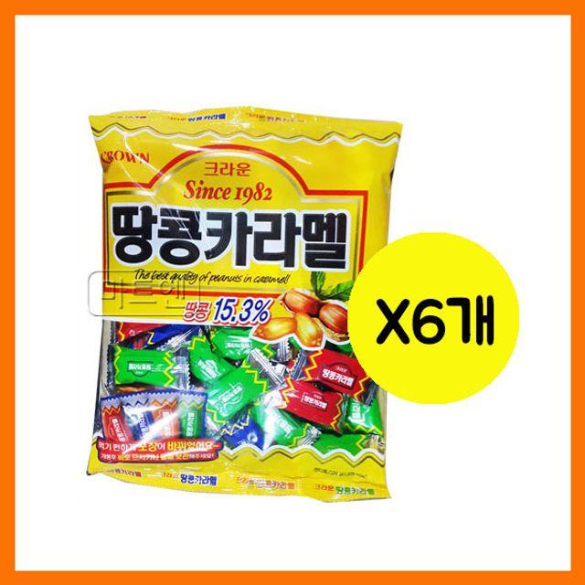 크라운 땅콩카라멜 324gx6개