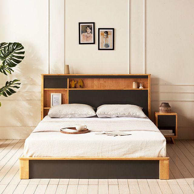 원목 침대 LED침대 퀸침대 통판침대 Q침대 침대프레임