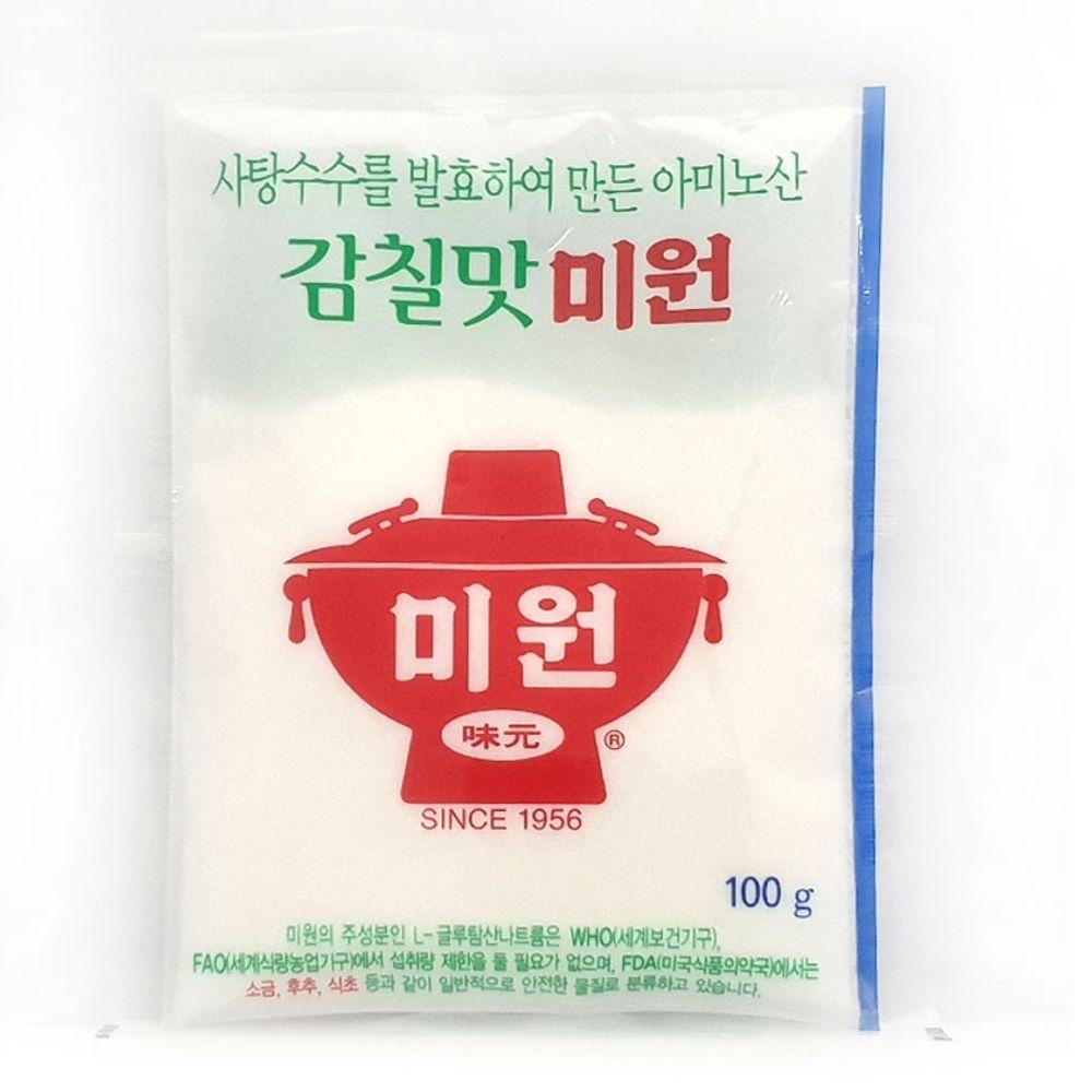 감칠맛 미원 100g 발효 사탕수수 국물 볶음 요리용