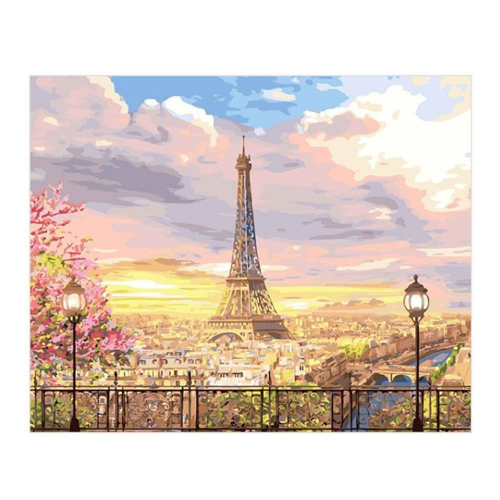 DIY 명화그리기 유화그림 에펠탑의 로망 40X50
