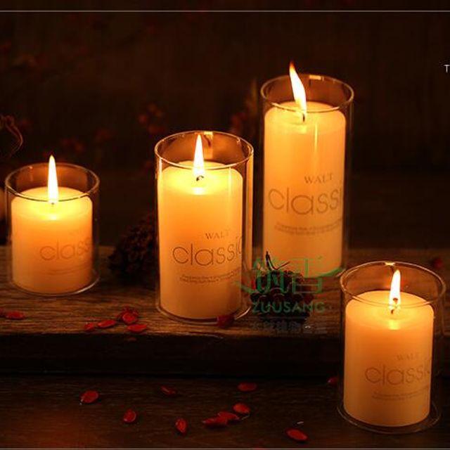 로맨틱유럽식 장식 유리촛대 밸런타인데이분위기 촛불