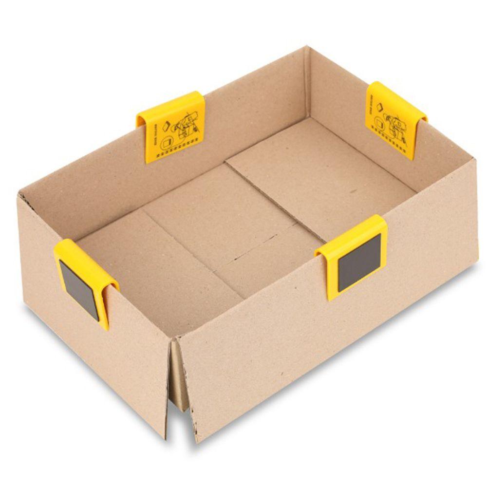 카톤 박스 덮개 고정 엣지 홀더 4P 포장 편의 용품