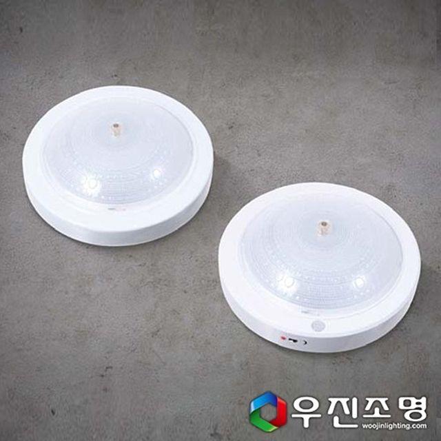 우진조명_ LED 원형 스탠다드 직부등 12W (사출)