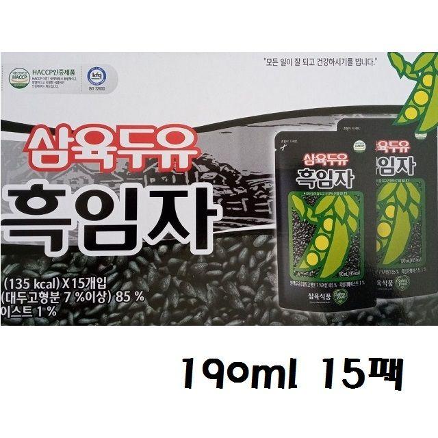 레토르트 맛과영양 흑임자두유 190ml 15입