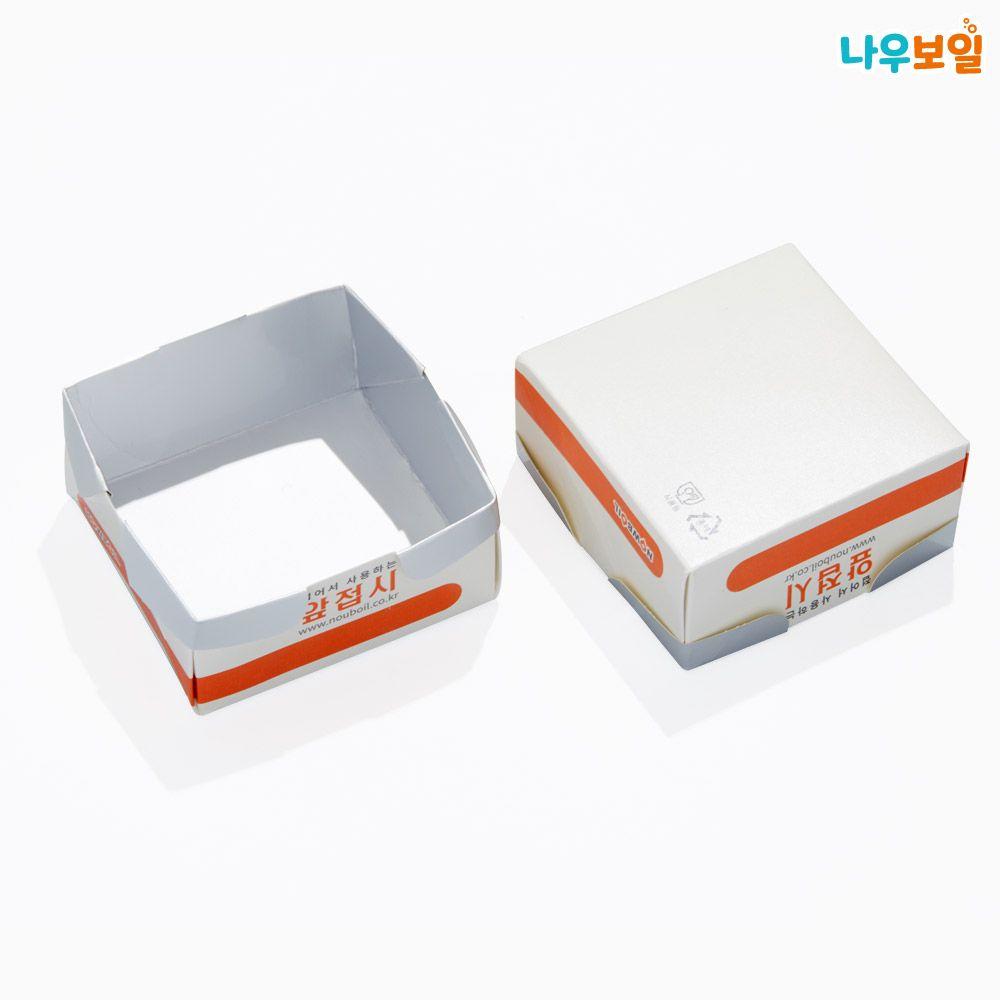 야외용 종이그릇 50p 사각형 앞접시 1회용품