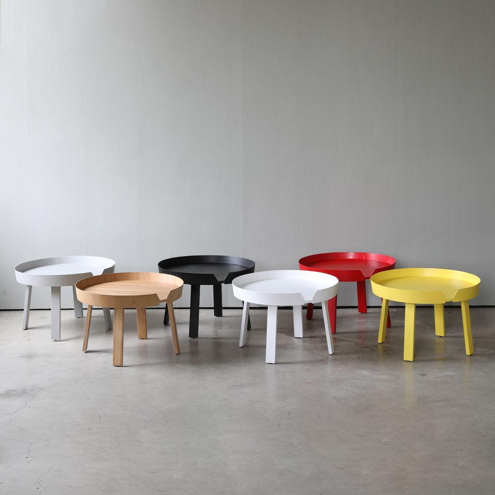 디센카르보 어라운드 원목 원형 테이블 L 5colors