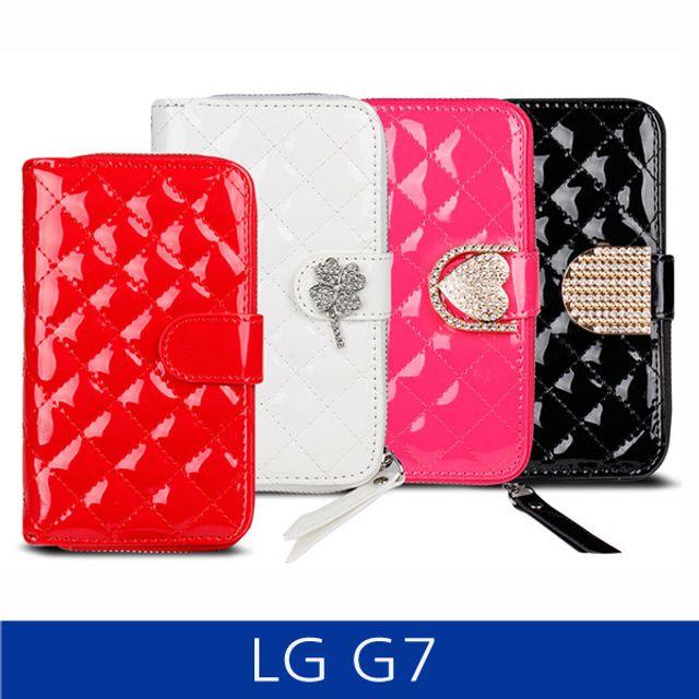LG G7. 퀼팅 지퍼지갑형 폰케이스