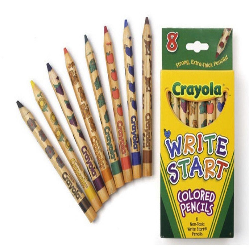 유아 그림 그리기 색칠 놀이 일반 색연필 유아용 8색